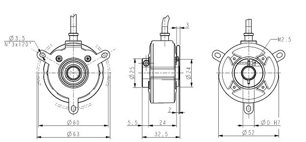 enkoders encoder c50-h-1000zcu410l2  1000ppr  d 10mm  2m  enkoderi   poz u012bcijas sensori